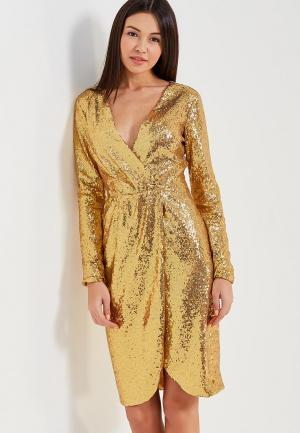 Платье Self Made. Цвет: золотой