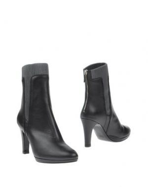 Полусапоги и высокие ботинки PREZIOSO. Цвет: черный