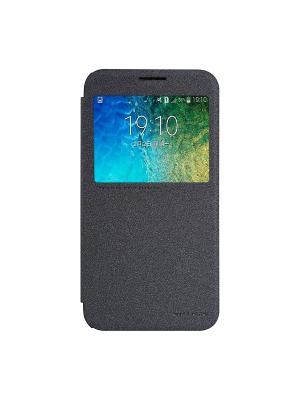 Samsung Galaxy E5 Nillkin Sparkle leather case. Цвет: черный