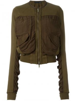 Куртка-бомбер  с карманами спереди Haider Ackermann. Цвет: зелёный
