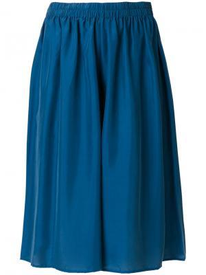 Широкие шорты со складками Mes Demoiselles. Цвет: синий