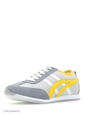Кроссовки Dino Ricci. Цвет: серый, желтый