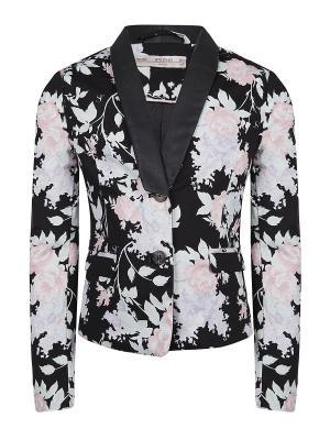 Пиджак, Jazlyn, цвет черный/мульти (Black Flower) SUPERTRASH. Цвет: черный