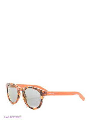 Солнцезащитные очки HUGO BOSS. Цвет: рыжий, серый