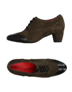 Обувь на шнурках PAS DE ROUGE. Цвет: темно-зеленый