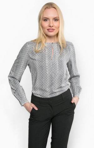 Серая блуза из вискозы olsen. Цвет: серый
