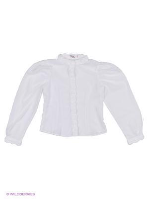 Блузка Born. Цвет: белый, синий