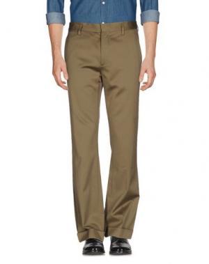 Повседневные брюки MARC JACOBS. Цвет: зеленый-милитари