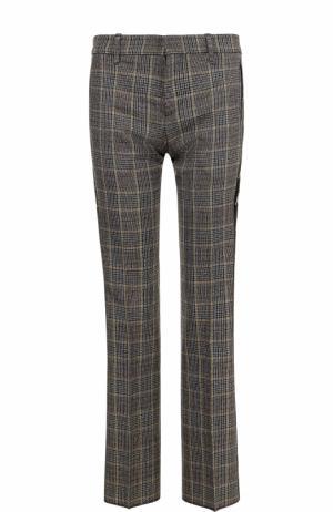 Шерстяные расклешенные брюки с лампасами Faith Connexion. Цвет: серый