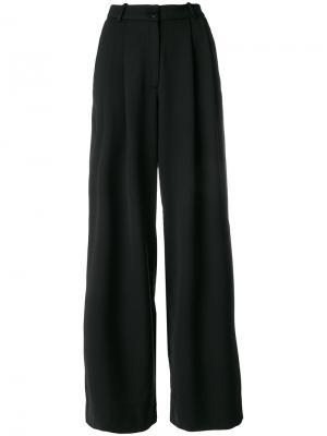 Широкие брюки Essentiel Antwerp. Цвет: чёрный