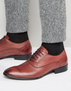 Base London Кожаные туфли-оксфорды Holmes. Цвет: красный