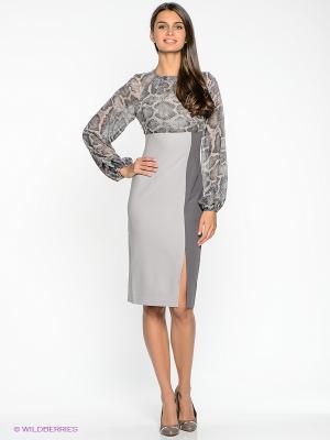 Платье Xarizmas. Цвет: серый, темно-серый