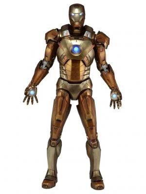 Фигурка Avengers 1/4 Iron Man Mark XXI - Midas Version (Gold Armor) Neca. Цвет: золотистый