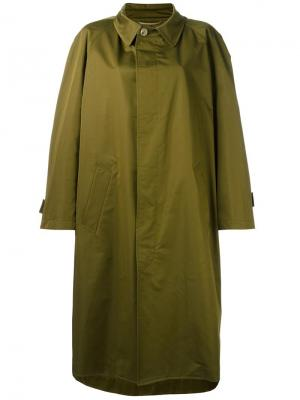 Пальто Comme Nehera. Цвет: зелёный
