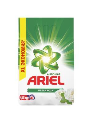 Стиральный порошок Белая роза 4.5 кг Ariel. Цвет: белый, зеленый