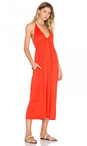Платье bouquet LACAUSA. Цвет: красный