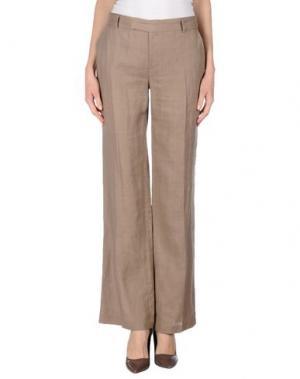 Повседневные брюки PF PAOLA FRANI. Цвет: голубиный серый