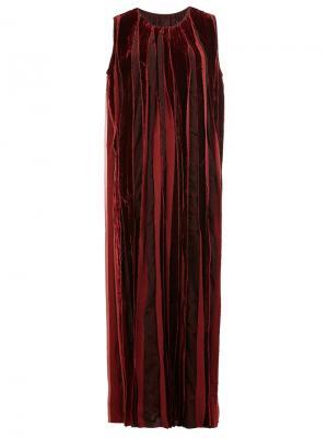 Бархатное длинное платье Uma Wang. Цвет: красный