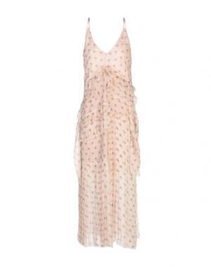 Длинное платье AQUILANO-RIMONDI. Цвет: светло-розовый