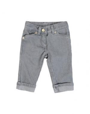Джинсовые брюки AMORE. Цвет: серый