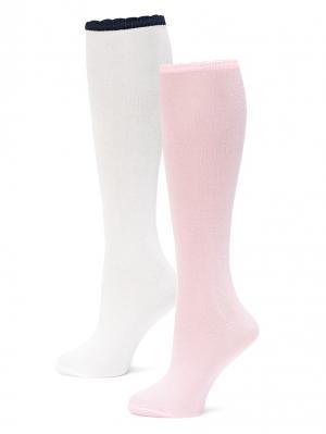 Гольфы LARMINI. Цвет: розовый, белый