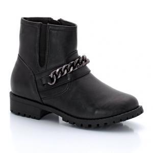 Ботинки-челси в байкерском стиле R kids. Цвет: черный