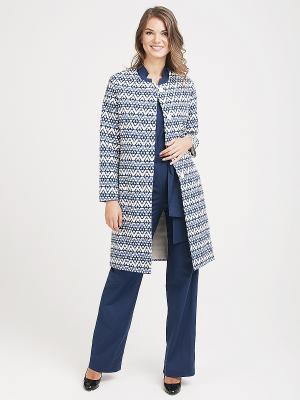 Пальто VITA STRETTA. Цвет: синий