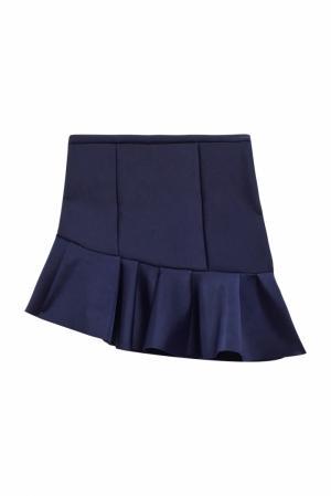 Однотонная юбка Maje. Цвет: синий