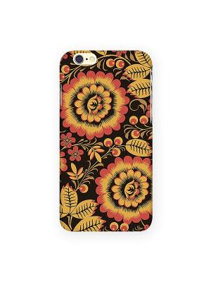 Чехол для IPhone 6 Хохлома Mitya Veselkov. Цвет: красный, желтый, зеленый