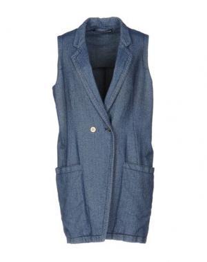 Легкое пальто NEW YORK INDUSTRIE. Цвет: синий