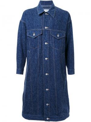 Джинсовое пальто Doublet. Цвет: синий