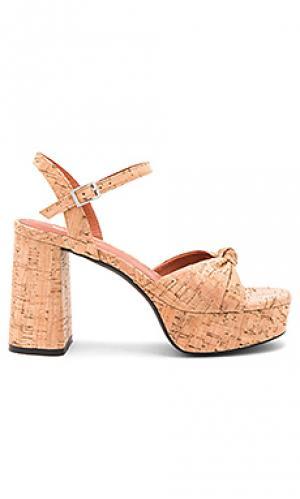 Туфли на каблуке corkie Matiko. Цвет: цвет загара