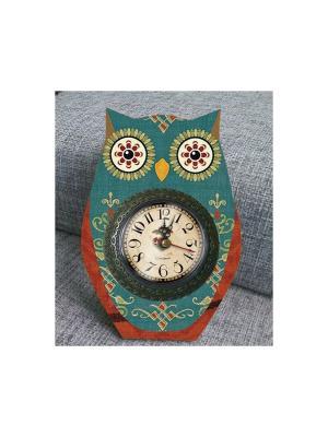 Часы настольные Совушкины чары Magic Home. Цвет: серебристый, серый, темно-зеленый