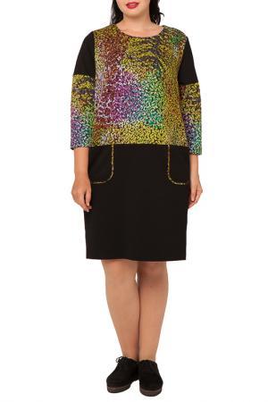 Платье Terra. Цвет: черный с отделкой