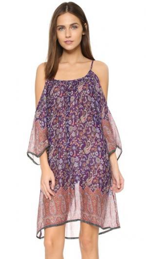 Пляжное платье Bandanarama Bindya. Цвет: лиловый мульти