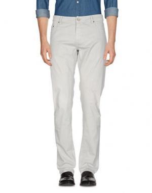 Повседневные брюки PT05. Цвет: светло-серый