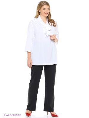 Блузка с воротником в виде шальки xLady. Цвет: белый