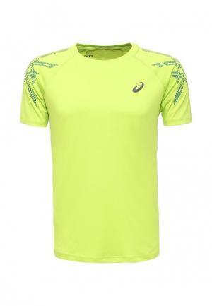 Футболка спортивная ASICS. Цвет: зеленый
