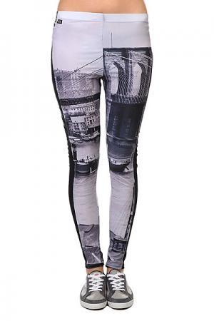Леггинсы женские  Allover Diamond Leggings Brooklyn K1X. Цвет: серый