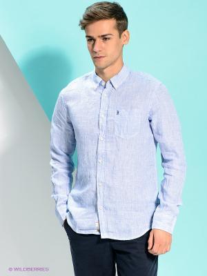 Рубашка PEPE JEANS LONDON. Цвет: голубой, белый