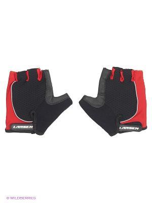 Велоперчатки Larsen. Цвет: черный