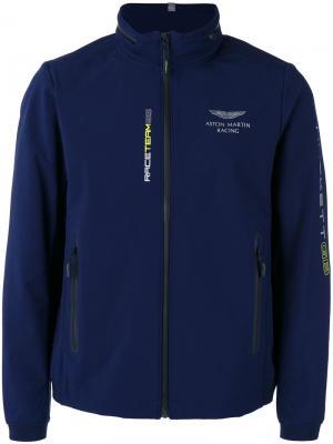 Легкая куртка на молнии Hackett. Цвет: синий