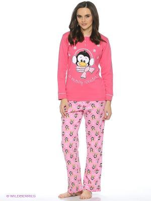 Пижама ROLY POLY. Цвет: фуксия