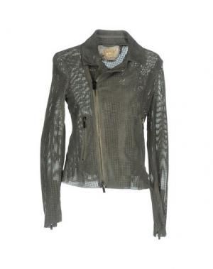 Куртка VINTAGE DE LUXE. Цвет: серый