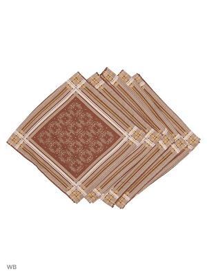 Набор платков носовых мужских Римейн. Цвет: серый, коричневый, желтый
