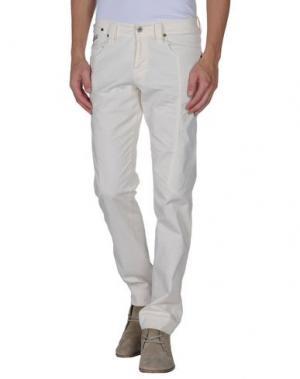 Повседневные брюки CHIRIBIRI. Цвет: слоновая кость