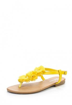 Сандалии Bellamica. Цвет: желтый