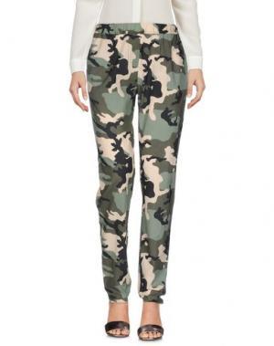 Повседневные брюки BASE. Цвет: зеленый-милитари