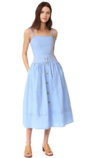 Платье Issy Rejina Pyo. Цвет: голубой шамбре