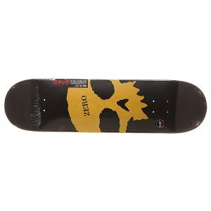 Дека для скейтборда  S6 Rhm Single Skull K/O 31.8 x 8.125 (20.6 см) Zero. Цвет: черный,желтый